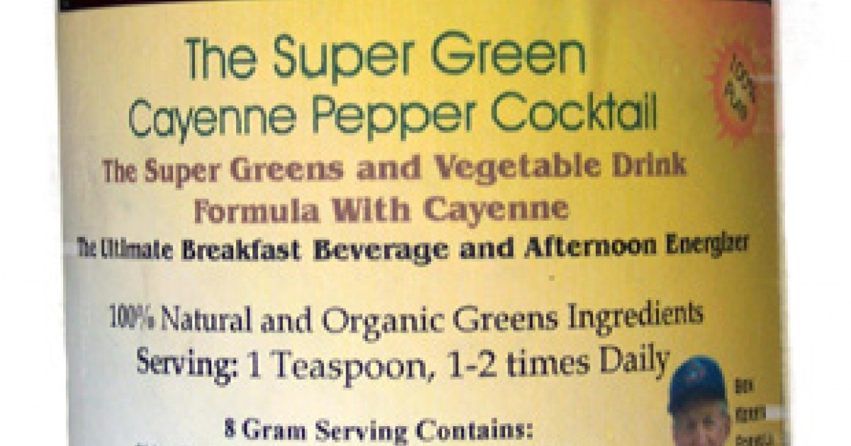 The Super Green Cayenne Pepper Cocktail